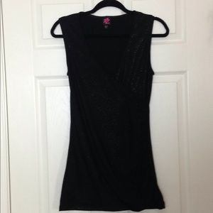 Bebe sleeveless black top